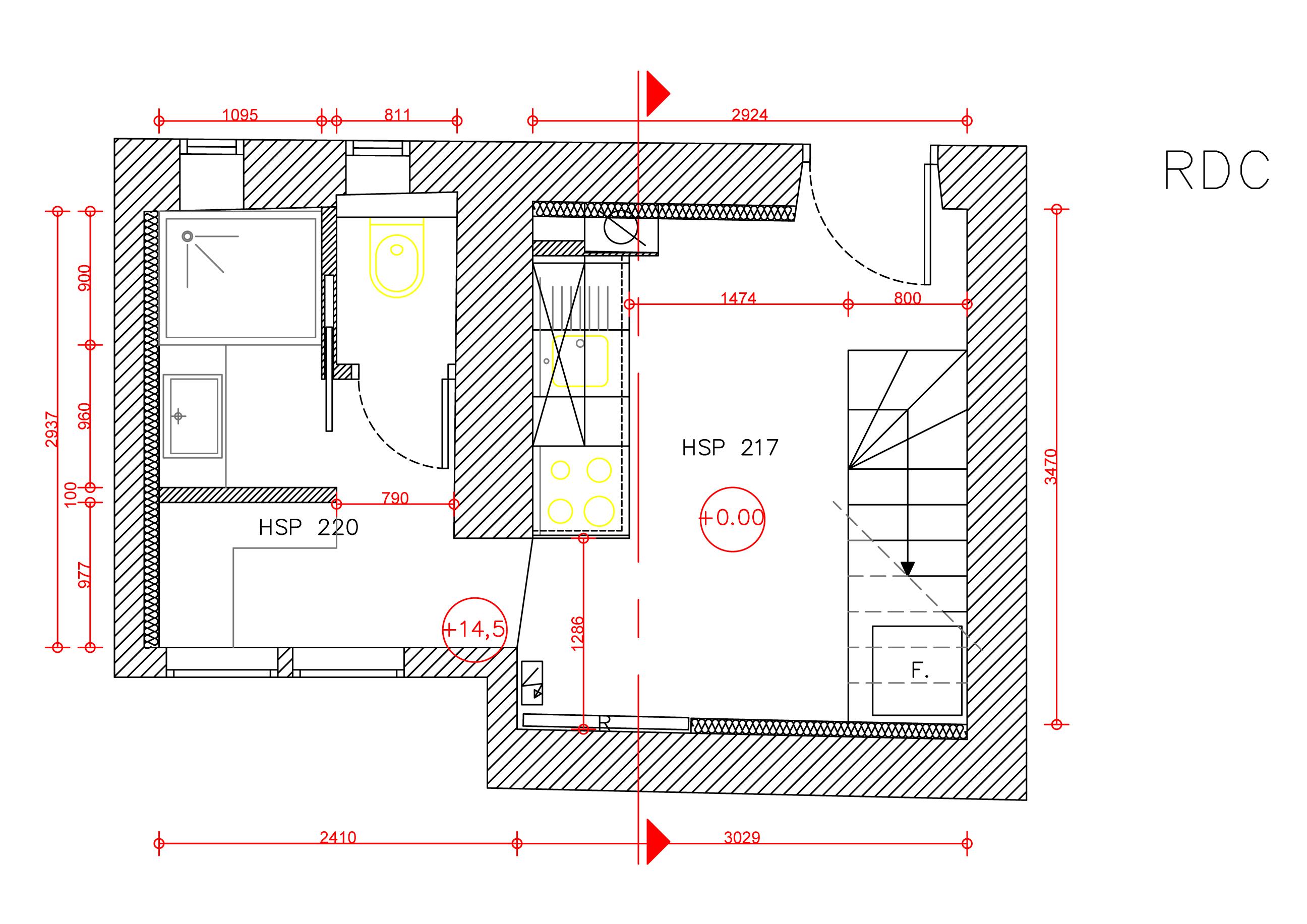 Salle De Bain Petit Espace Plan ~ r novation d un petit chalet de 60m2 sur 3 niveaux maud koch